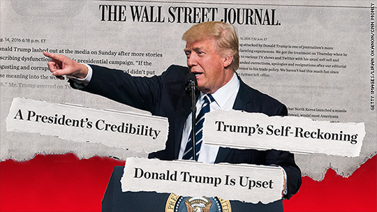 The Wall Street Journal and Trump's history of hostility