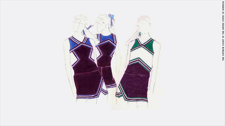 varsity cheerleader uniforms supreme court