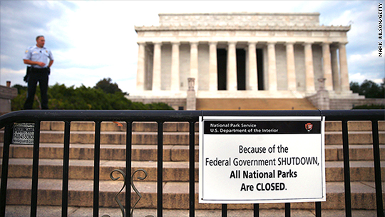 Will a government shutdown mark Trump's 100th day?