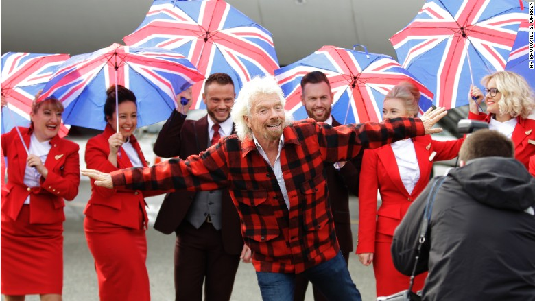 Richard Branson flight attendants