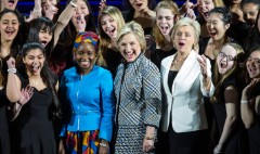 Clinton addressing Women of the World