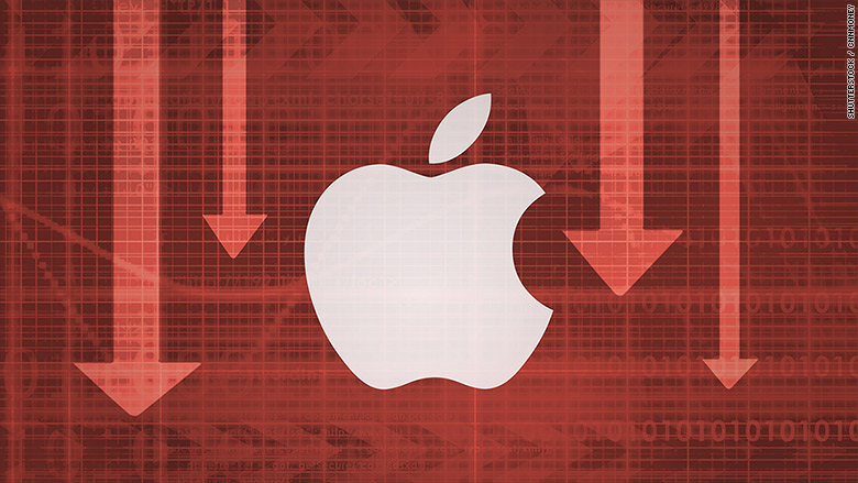 apple stocks down