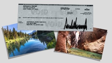Trump is donating his paycheck to the National Park Service