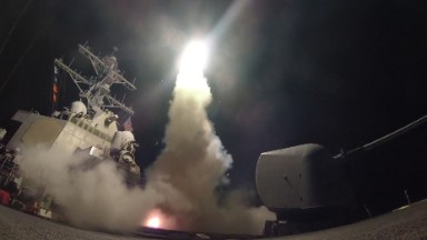 After Syria strike, White House goes largely off camera