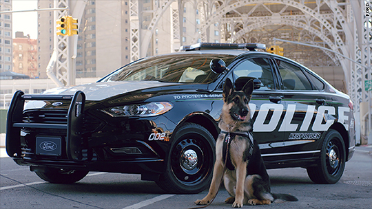 Ford unveils a new hybrid police car for high-speed chases