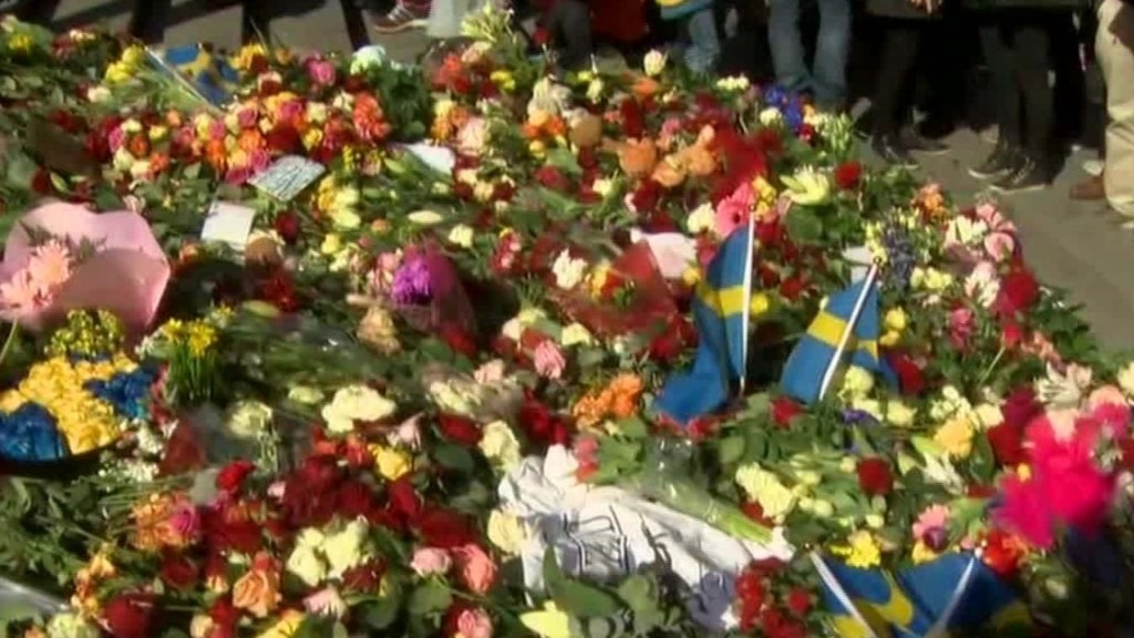 Stockholm unites after attack