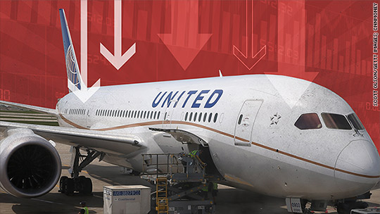 United shares sink 12% after CEO admits airline is in a 'competitive hole'