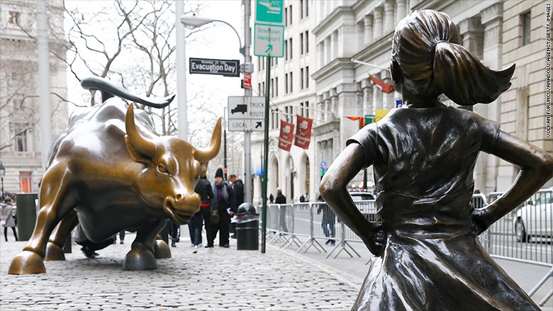 fearless girl with bull