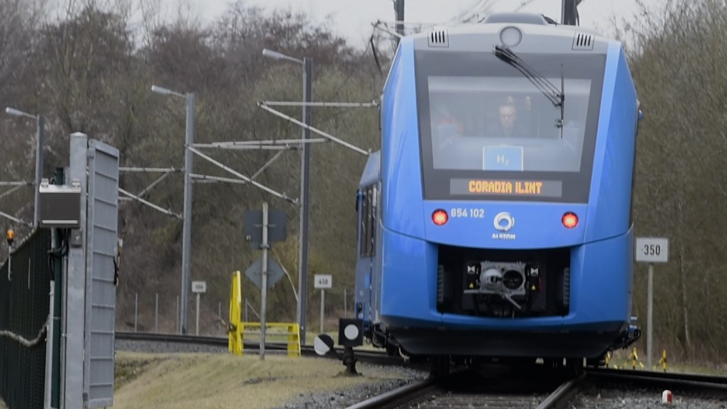 Aboard the first hydrogen commuter train