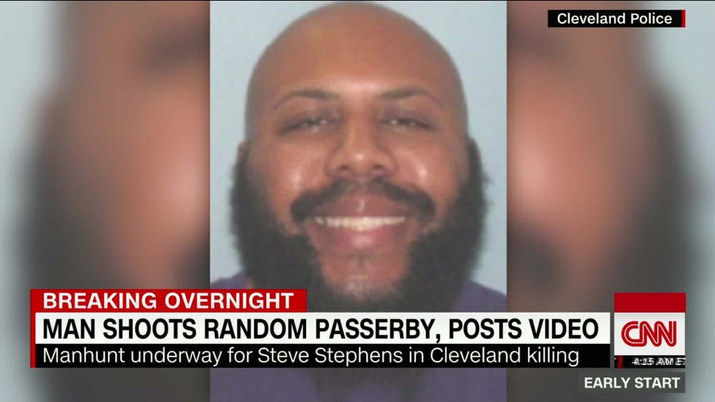 Man sought in Cleveland Facebook killing is dead