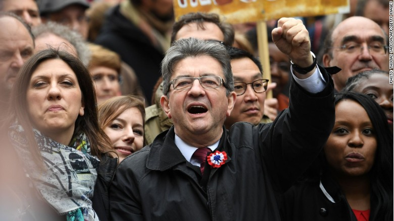 French candidate Jean-Luc Melenchon wants a 100% tax on the rich