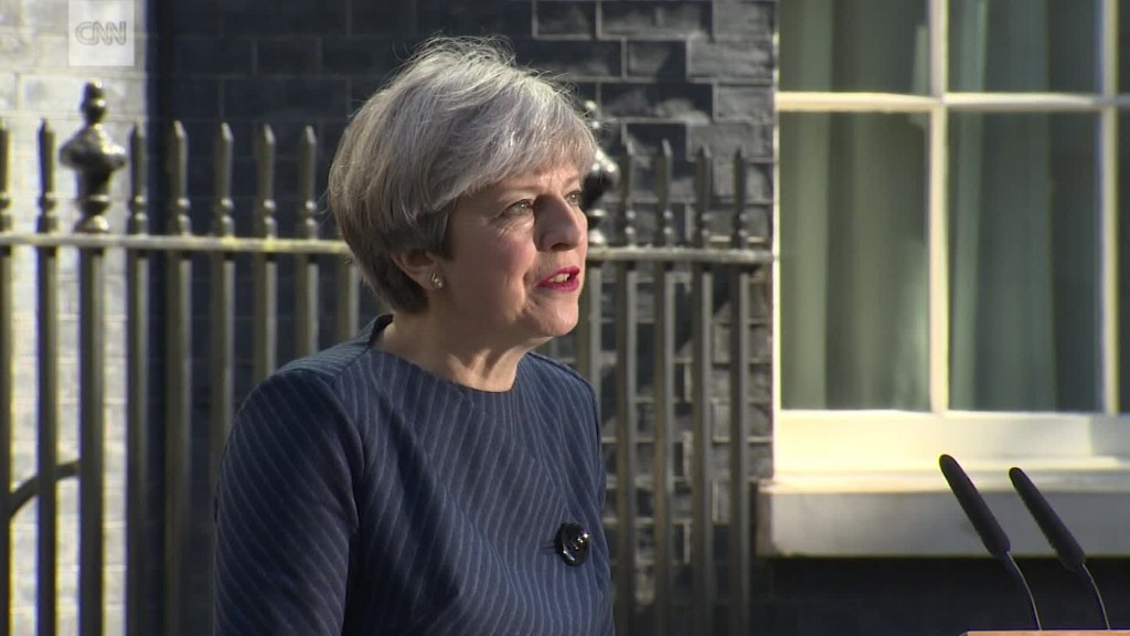 U.K. Prime Minister May to seek early election