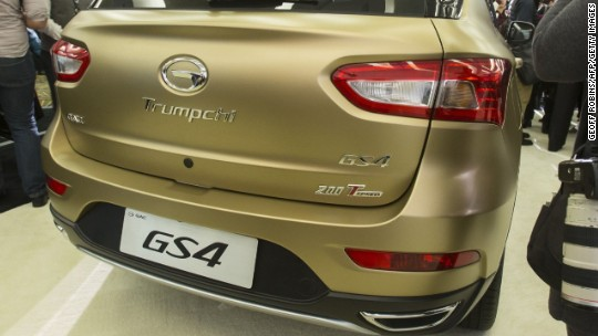 Would you buy a Chinese car called Trumpchi?