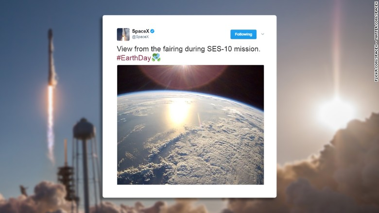 See the view from SpaceX's historic mission