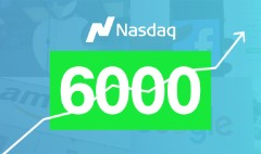Nasdaq tops 6,000 mark for first time ever