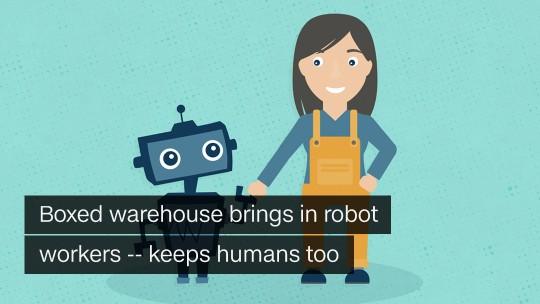 Boxed warehouse robots
