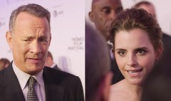 Tom Hanks and Emma Watson talk social media