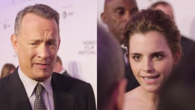 Tom Hanks and Emma Watson talk social media
