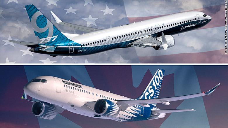 boeing 737 bombardier cseries