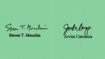 carranza mnuchin signature