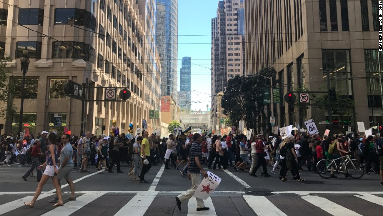 SF May Day march