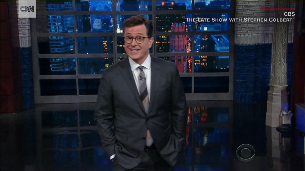 Colbert responds to online backlash