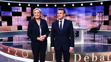 French elections; Big Media earnings; Snap's first report