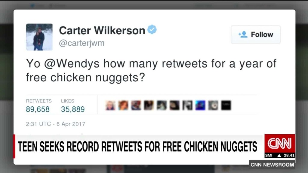 Teen's campaign for free nuggets goes viral