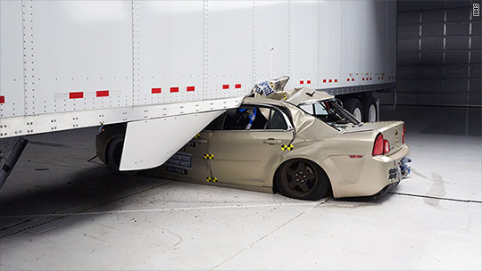 Preventing deaths when cars hit tractor trailers
