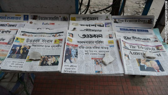 Newspapers are thriving in India