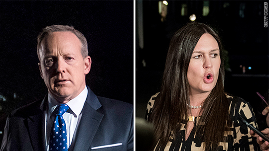 Image result for Sean spicer and sarah