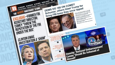 Conservative media unleashes on 'national embarrassment' Comey after firing