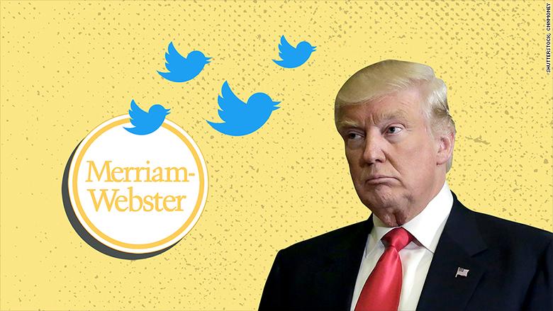 merriam webster trump twitter