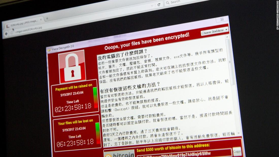 """Résultat de recherche d'images pour """"global cyber attacks, ransomware Wannacry, 2017"""""""