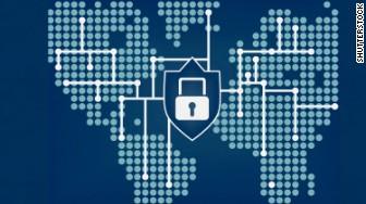 locked computer global network