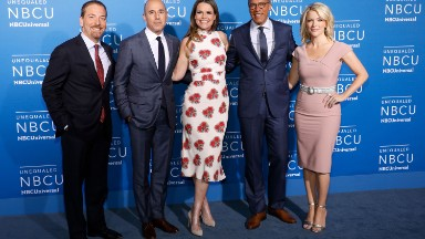 Megyn Kelly makes her first appearance with the NBC News family