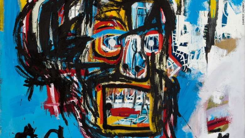 basquiat tops warhol after painting sells for 111 million