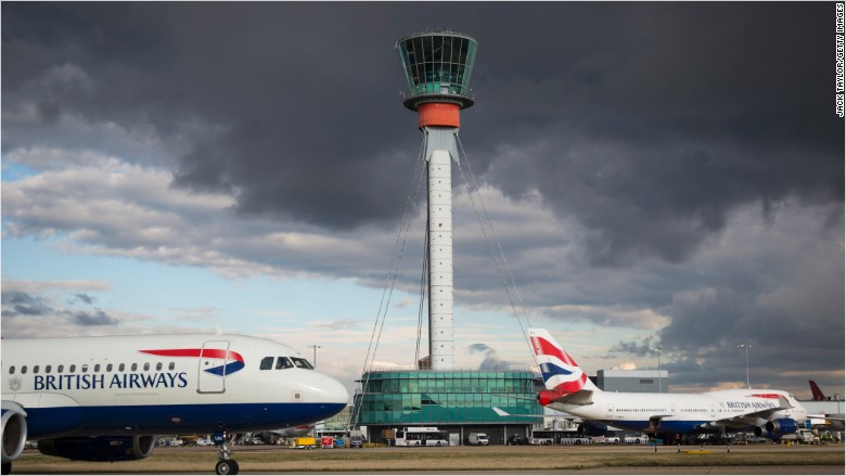 london heathrow airport british airways planes aviation
