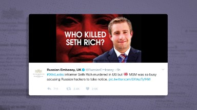 Russia promotes conspiracy theory on DNC staffer's death after false Fox News story