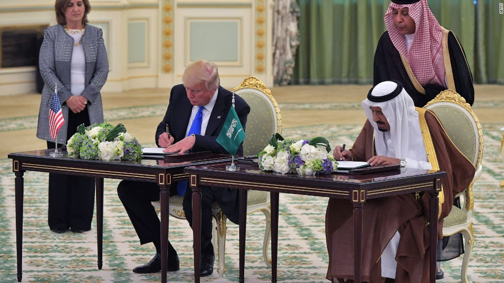 Trump signs $110 billion arms deal with Saudi Arabia