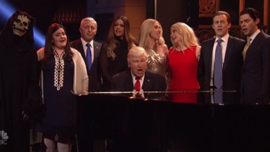 'SNL' finale has Baldwin's Trump singing and 'The Rock' running for POTUS