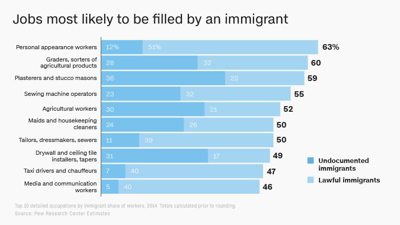 immigration stats jobs