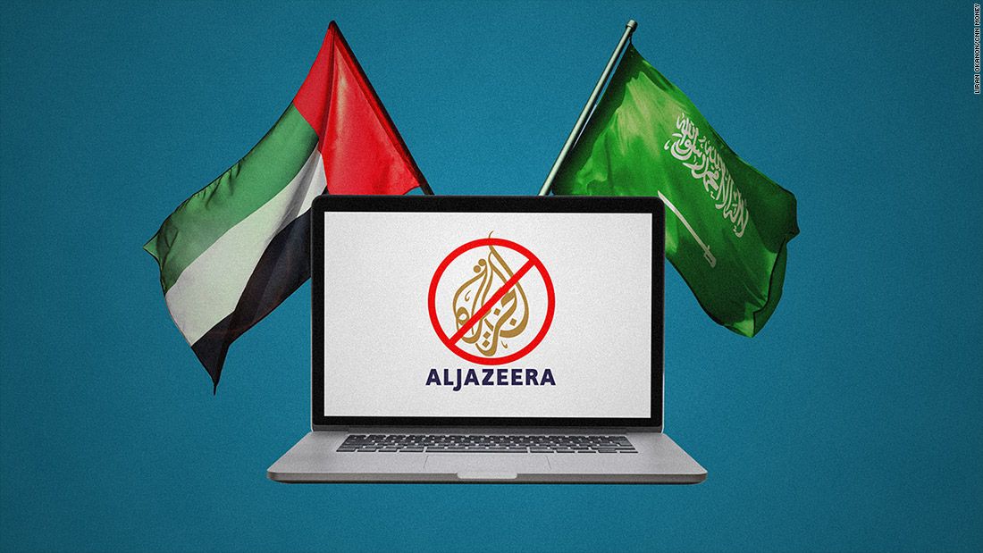 Al Jazeera blocked by Saudi Arabia, Qatar blames fake news