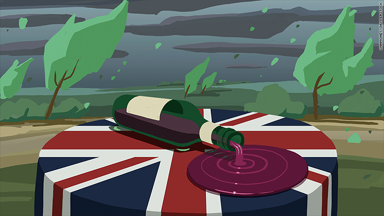 spilt uk wine