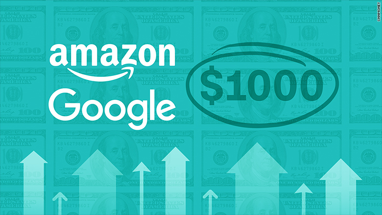 Amazon, now Alphabet with shares at $1000