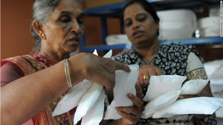 India's tax on sanitary pads sets off protest