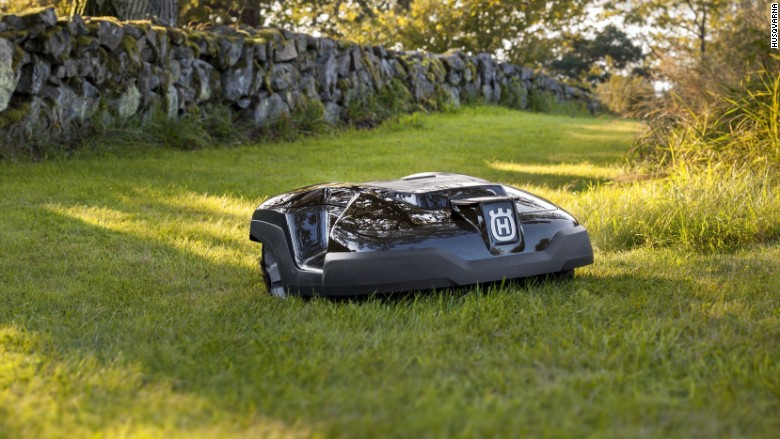 let a robot do your yard work coolest gadgets to kick off summer cnnmoney. Black Bedroom Furniture Sets. Home Design Ideas