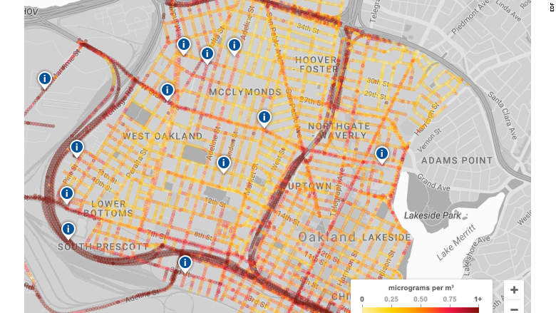 Mobile sensors track Oakland's big pollution problem