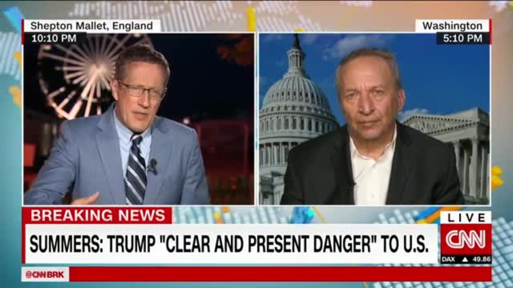 Summers: Trump is a 'clear and present danger' to the U.S.