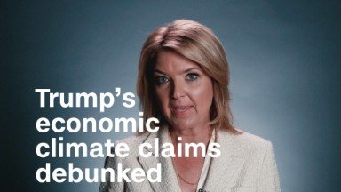 Debunking Trump's economic claims on climate change